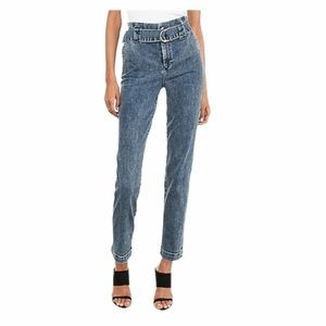 Express Blue Denim Super High Waisted Trouser